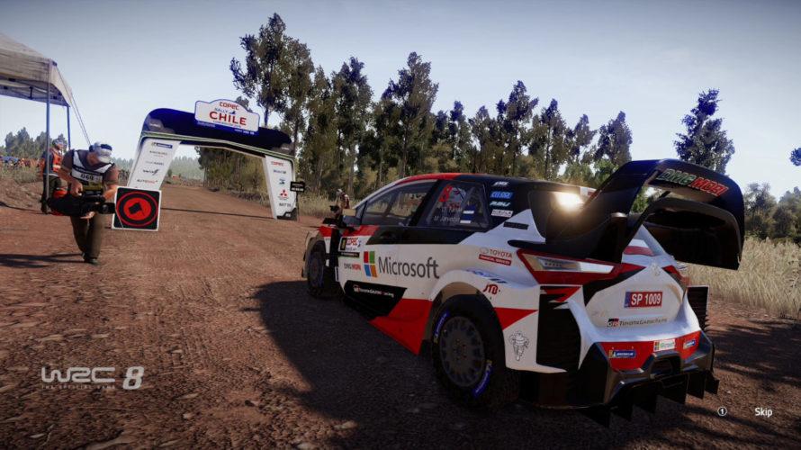 WRC 8 Yaris Car Setup Chile Lircay reverse 1